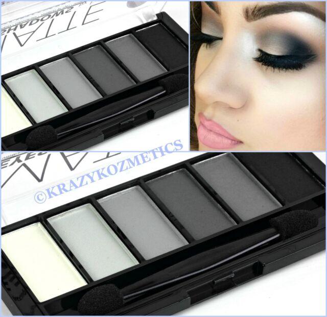 TECHNIC - MATTE SMOKEY - 6 Shade Eyeshadow Palette - BLACK - GREY - WHITE -
