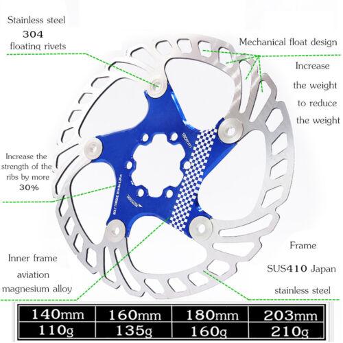 140//160//180//203mm Bicycle Brakes Float Disc Brake Bike Brake Rotor