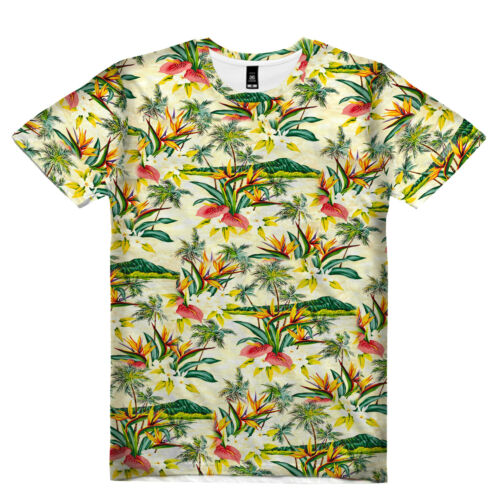 NEW BIRD OF PARADISE SUMMER TEE BY OVN SUB T-SHIRT REG FIT/&SIZE UP TO 6XL