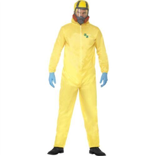 Smiffy/'S MEN/'S Breaking Bad Costume /& Pizzetto, Guanti di Gomma Maschera Tuta ignifuga