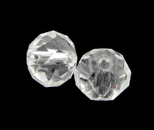 25 CRISTAL TCHÈQUE PERLES PERLES DE VERRE 6 mm Crystall Rondell x184