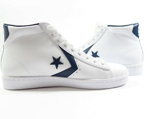 Image is loading Converse-Pro-Leather-PL-76-Mid-White-Navy- aae3002e3