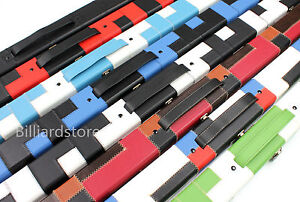 3-4-Handmade-Snooker-Pool-Hard-Cue-Case-Choose-Your-Favourite-Patch-Color