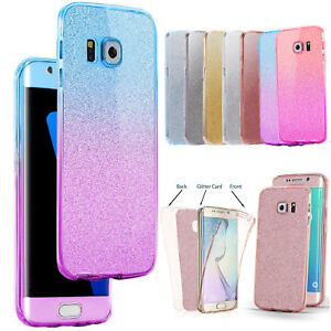 For-Samsung-Galaxy-S6-S7-S8-S9-J3-A3-A5-360-Silicone-Protective-Gel-Case-Cover