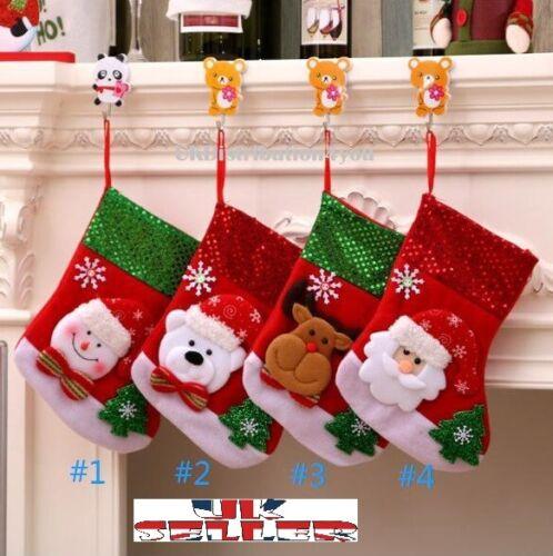 Medias de Navidad Navidad Muñeco De Nieve De Lujo Saco Santa De Lujo Alce Invierno vendedor del Reino Unido