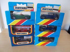 6-MATCHBOX-modelli-MB17-BUS-MB22-Jaguar-Ford-Van-MB38-amp-3-x-MB44-CITROEN-in-Scatola