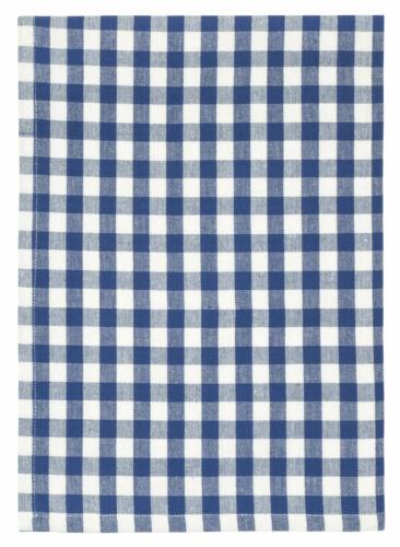 "Bistro Blue Set of 6 100/% Cotton Blue /& White Checked 20/""x28/"" Dish Towel"