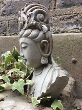 Divine Beautifully Detailed Kwan Yin Bust  Statue , For The Home Or Garden.
