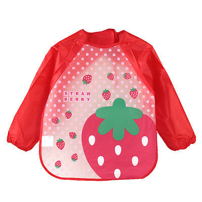 Baby Toddler Waterproof Long Sleeve Bibs Apron Waterproof Feeding Smock Clothes