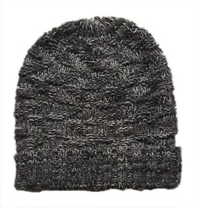 ZARA Boy Knitted GREY Marl Striped Ribbed Winter Beanie Fairisle Hat ... 8aefb777875