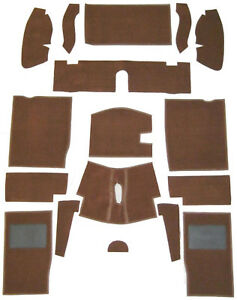 MG-MIDGET-AH-SPRITE-CARPET-SET-BROWN-amp-FELT-KIT-WITH-HESSIAN-BACKING-68-80