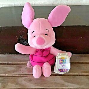 Mattel-Disney-Winnie-The-Pooh-039-s-Piglet-Pink-Plush-Stuffed-Toy-Star-Bean-8-034-NWT