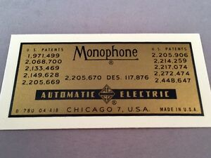 Antique-Telephone-Water-Decal-Automatic-Electric-Monophone-SKU-20764