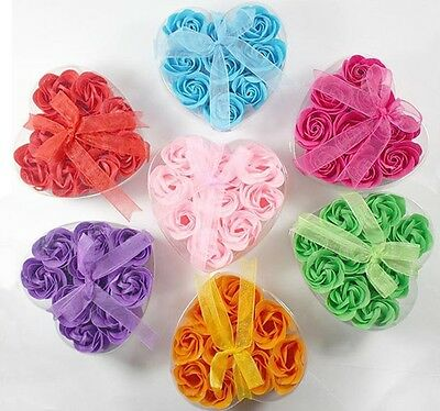 3 6 9 Bath Body Flower Heart Favor Soap Rose Petal Wedding Decoration Party Gift