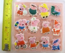 PEPPA PIG SET SILICONE MOULD FOR CAKE TOPPERS, CHOCOLATE, CLAY ETC
