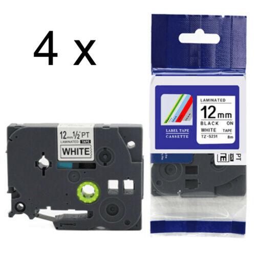 1-20x 12mm TZE S231 TZ S231 tape black//white for BROTHER P-TOUCH label printers