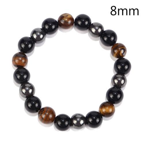 Magnetische Hämatit Stein Perlen Armband Gesundheitswesen Männer GewichtsveWLTE
