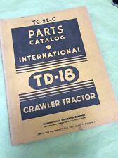 International Td 18 Tractor Crawler Dozer Parts Manual Book Catalog Shop Guide