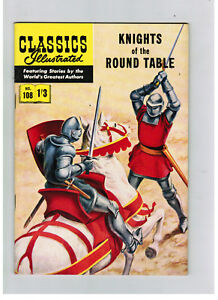 CLASSICS ILLUSTRATED COMIC No. 108 Knights of the Round Table HRN 126 SUPER COND