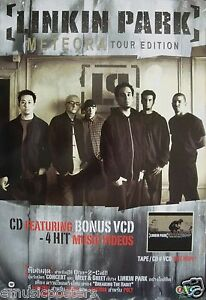 Details About Linkin Park Meteora Tour Edition Thailand Promo Poster Alt Metal Music