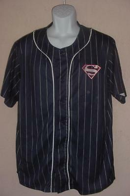 Fan Apparel & Souvenirs Spirited Superman Man Of Steel Superhero Baseball Jersey Button Front Sewn & Screened Xl To Make One Feel At Ease And Energetic Sports Mem, Cards & Fan Shop