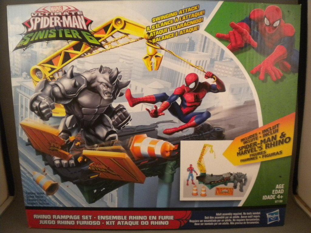 New Rhino Rampage Play Set Ultimate Spider-Man vs Sinister 6 Marvel Hasbro