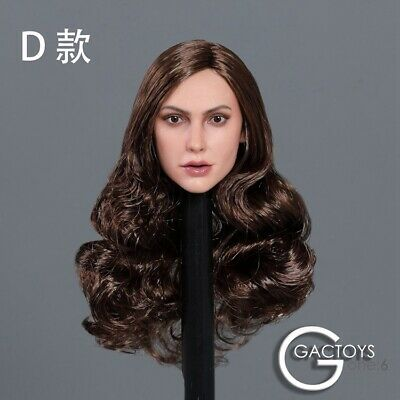 Gal Gadot Head Model 1//6 scale Long Hair Female Head Carving Head Sculpt