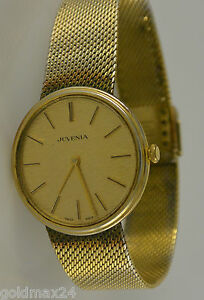 Juvenia-Handaufzug-Uhr-vergoldet