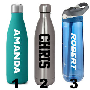 Custom Water Bottle Name Decal Sticker