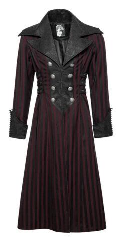 Jacquard Gestreift Victorian Satin Mantel Gothic Barock Dandy PunkRave Herren R
