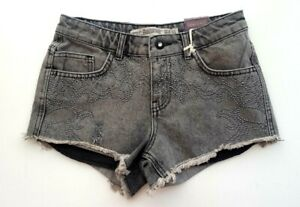 diseño de calidad 51c27 a118c Detalles de Nuevos Pantalones Jeans para Mujer ZARA Mini Pantalones Cortos  Talla 6 Mujer Gris Stonewash Stud £ 19.99- ver título original