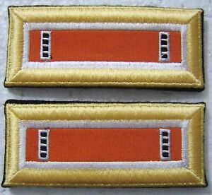 1 PAIR ARMY GREEN US ARMY CWO3 RANK SHOULDER MARKS FEMALE