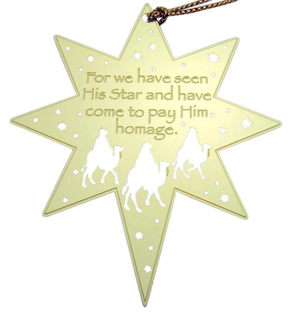 MRT For We Have Seen His Star Wise Men Christmas Tree Decoration Ornament 2 1/2""