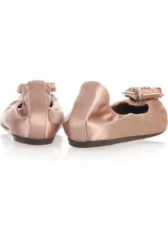 Lanvin desnuda Satén adornado Zapatos Bailarina pisos Boda I Love Zapatos adornado 2a529d