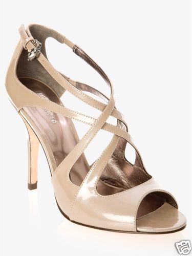 NIB MARCIANO GUESS CHIARA CRISSCROSS Schuhe NUDE Größe 9 HOT    SEXY
