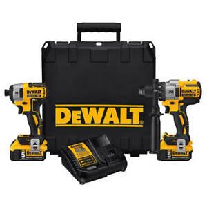 DEWALT-DCK299P2-20V-Max-XR-Lithium-Ion-5-0Ah-Premium-Hammer-Drill-and-Impact-Kit
