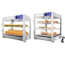 2 Tier3 Tier Pizzaampfood Warmer Stainless Steel Food Display Cabinet Heater Case