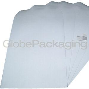 100 x C4/A4 PLAIN WHITE SELF SEAL ENVELOPES 90gsm SS 5055502390369