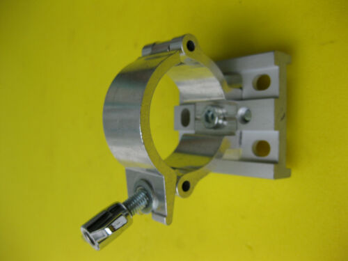 Rohrverbinder Rohrhalter Rohrschelle  Aluminium poliert für 50mm Rundrohre