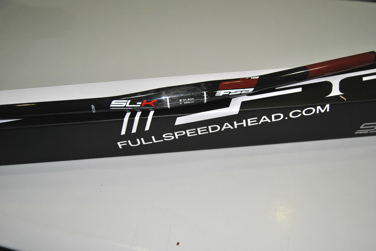 Piega Manubrio MTB FSA CSI  Flat Mod.SLK Red All Carbon 620mm HANDLEBAR FSA  enjoying your shopping