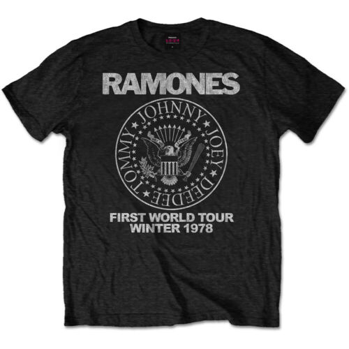 RAMONES  $¥ FIRST WORLD TOUR 1978 ¥$ Official Tee *