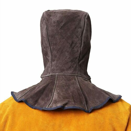 Professional Welding Hood Split Cowhide Leather Welder Hat Cotton Mesh Lining