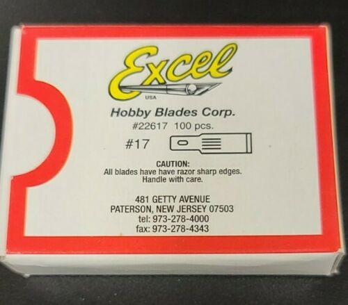 Excel #17 Hobby Blades 100 Pack For Xacto