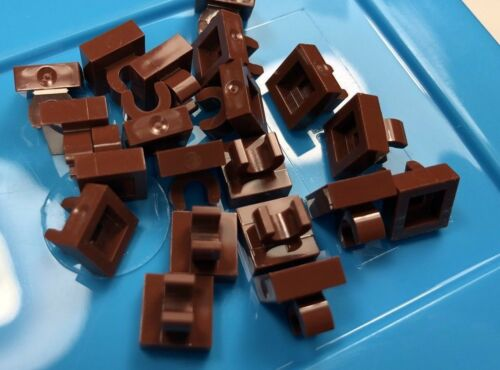 New Reddish Brown LEGO Tile Modified 1 x 1 with Clip Rounded Edges 15712 x20
