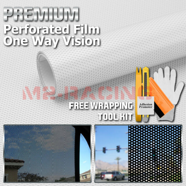 "*12/""x42/"" Black Perforated One Way Vision Print Media Vinyl Window Sticker Film"