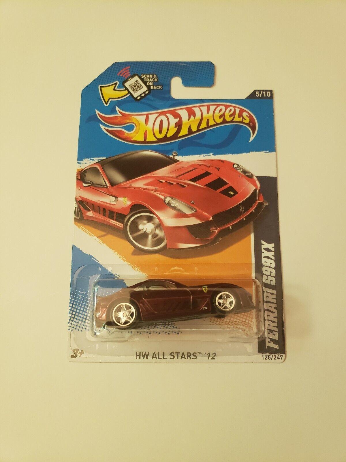 Hot Wheels 2 súper Búsqueda del Tesoro-Ferrari 599XX HW All Estrellas'12 y taller de Hardware