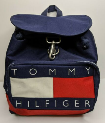 Tommy Hilfiger Drawstring Backpack Bag Flag Logo S