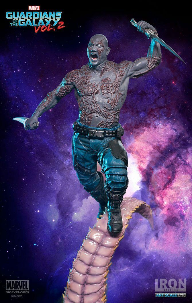 GUARDIANS of the GALAXY 2: DRAX BATTLE DIORAMA SERIES 1/10 Statuen Eisen STUDIOS