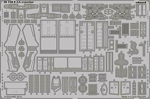 EDP48750 F-5A Exterior Eduard Photoetch 1:48 Kinetic