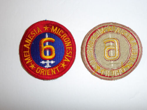13041  WW 2 USMC 6th Marine Division Melanesia Micronesia Orient Patch R5A